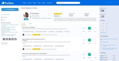 FazWaz Advice User Profile
