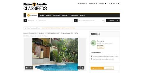 Phuket Gazette Classifieds Single Ad Page
