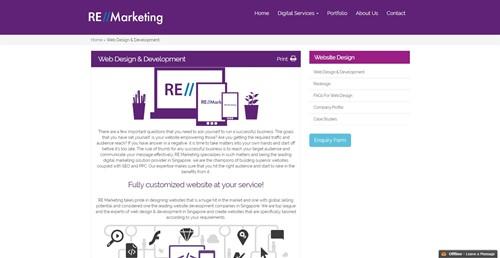 RE Marketing Web Design and Development